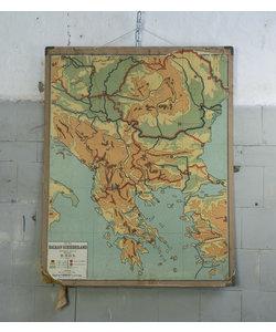 Oude landkaart - Balkan-schiereiland