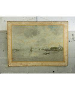 Vintage schoolplaat - Voor Dordrecht