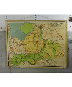 J.B. Wolters landkaart - Gelderland en Flevoland