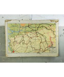 Oude landkaart - Noord-Brabant