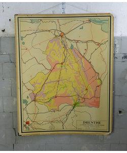 J.B Wolters landkaart - Drenthe