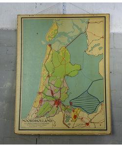 J.B Wolters landkaart - Noord-Holland