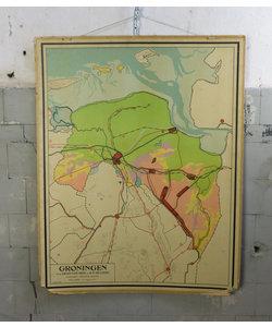 J.B Wolters landkaart - Groningen