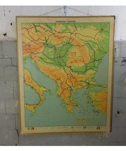 J.B Wolters landkaart - Zuidoost-Europa