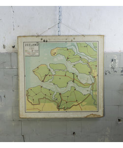 Oude landkaart - Zeeland