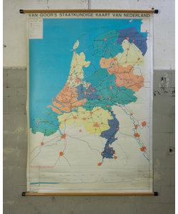 Van Goor's staatkundige kaart van Nederland