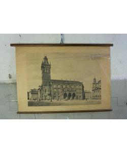 Schoolplaat landschap - Kerk
