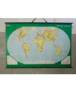 Vintage landkaart - Wereld