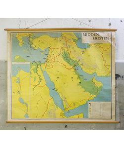Oude landkaart - Midden- Oosten