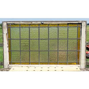 50 x 88 cm - Glas in lood raam No. 331