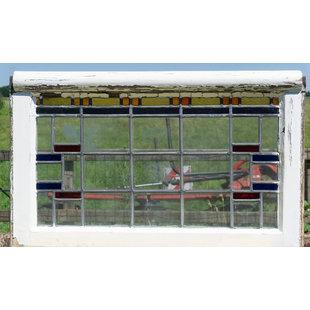 50 x 82,5 cm - Glas in lood raam No. 338