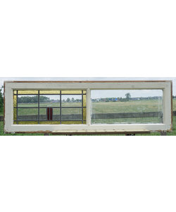 129 x 40 cm - Glas in lood raam No. 352