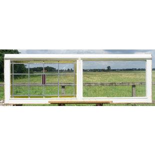 59,5 x 176,5 cm - Glas in lood raam No. 351