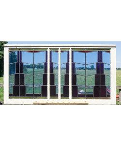 81,5 x 153 cm - Glas in lood raam No. 345