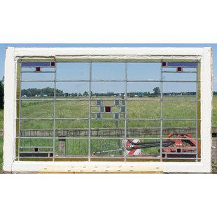 113 X 126 cm - Glas in lood raam No. 344