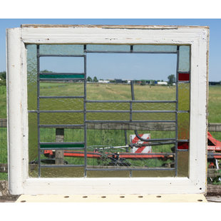 76,5 x 66 cm - Glas in lood raam No. 340