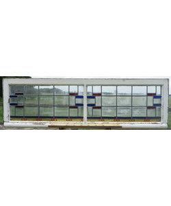 52 x 177 cm - Glas in lood raam No. 357