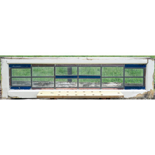34,5 x 134 cm - Glas in lood raam No. 362