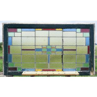 70 X 121,5 cm - Glas in lood raam No. 353