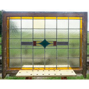 83,5 x 114,5 cm - Glas in lood raam No. 358