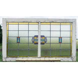 72 x 123 cm - Glas in lood raam No. 355