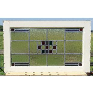 48 x 79 cm - Glas in lood raam No. 347