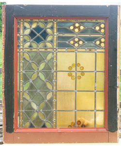 79 x 66 cm - Glas in lood raam No. 363