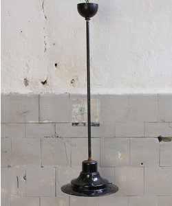Vintage hanglamp - Zwart emaille