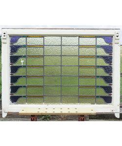 87 x 115.5 cm - Glas in lood raam No. 364