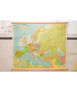 Vintage wandkaart van Europa