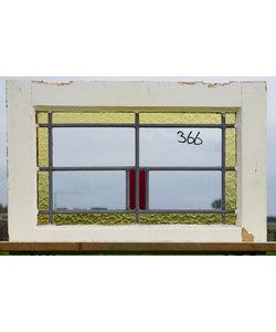 40 x 60 cm - Glas in lood raam No. 366