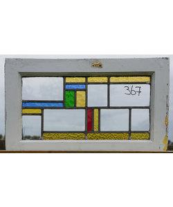 38 x 64,5 cm - Glas in lood raam No. 367