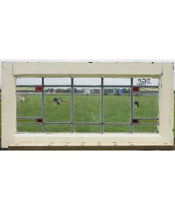 39 x 78 cm - Glas in lood raam No. 372