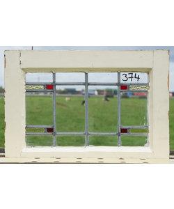 39,5 x 55 cm - Glas in lood raam No. 374