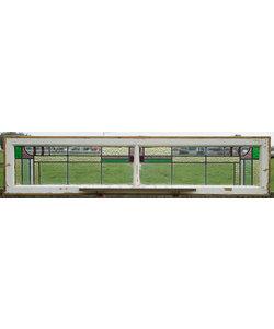 36,5 x 163,5 cm - Glas in lood raam No. 382