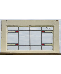 39,5 x 64 cm - Glas in lood raam No. 384