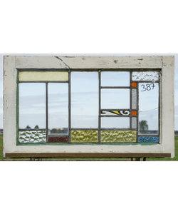 46 x 77,5 cm - Glas in lood raam No. 387