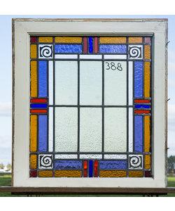 62 x 70 cm - Glas in lood raam No. 388