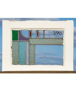 37 x 48 cm - Glas in lood raam No. 390