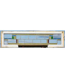 38 x 149,5 cm - Glas in lood raam No. 391