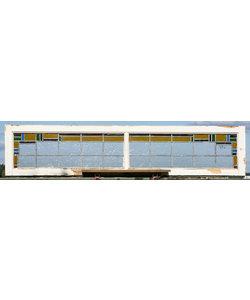 42 x  193,5 cm - Glas in lood raam No. 392