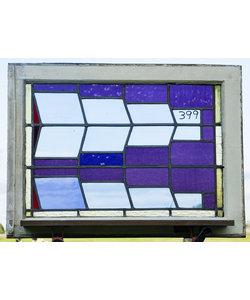 60 x 82 cm - Glas in lood raam No. 399