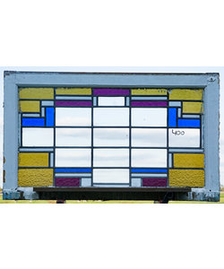 60 x 100,5 cm - Glas in lood raam No. 400