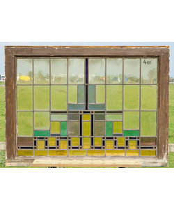 80 x 108 cm - Glas in lood raam No. 401
