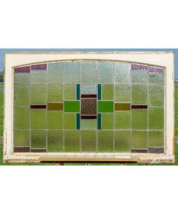 81,5 x 125,5 cm - Glas in lood raam No. 402