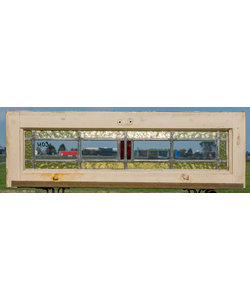 25 x 77 cm - Glas in lood raam No. 403