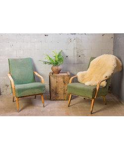 Enkele vintage fauteuil - Groen