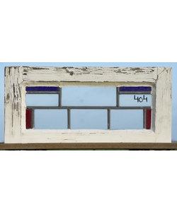 56,5 x 28,5 cm - Glas in lood raam No. 404
