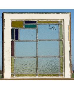 48 x 52 cm - Glas in lood raam No. 408