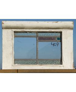 43 x 31 cm - Glas in lood raam No. 409